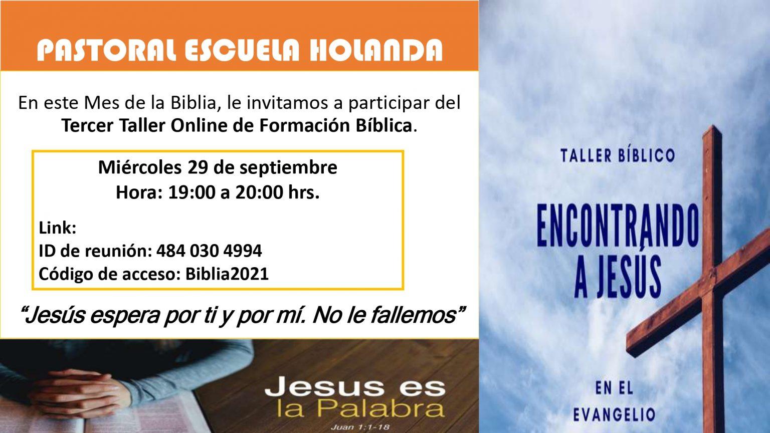 Invitación para Taller Bíblico 3ra sesión